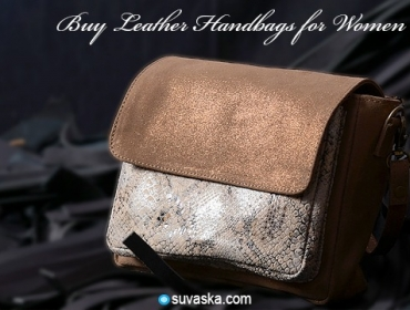 Buy Leather Handbags for Women in India
